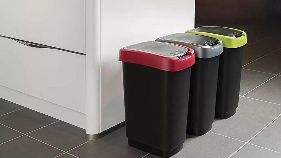 Une poubelle automatique carrée 50lpour votre cuisine